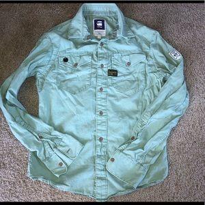 G star raw button up shirt